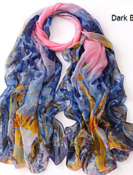 2015 New Wood Painting Simulation Silk Scarves