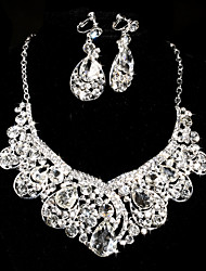 Ladies' Alloy Rhinestone Wedding Jewelry Set