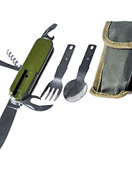Multi-functional Foldable Flatware Set for Outdoor Picnic