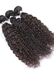 Selling!! 22inch 3pcs 100g/pcs Unprocessed Brazilian Human Hair Extension Kinky Curl Natural Color,Free Shipping