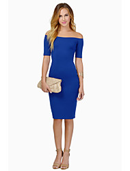 CYAY Women's Fashion Charm Backless Solid Color Dress