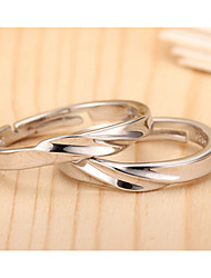 Sterling Silver Ring Couple Rings Wedding/Party/Daily/Casual 1pc Promis rings for couples
