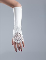 Fingerless Satin  Opera Length Wedding/Party Glove