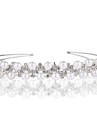 Alloy Headbands With Imitation Pearls Wedding/Party Headpiece