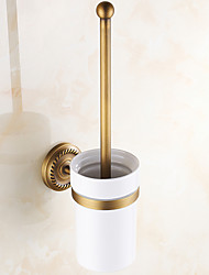 Toilet Brush Holder Antique Copper Wall Mounted 430*120mm(16.92*4.72inch) Brass Antique