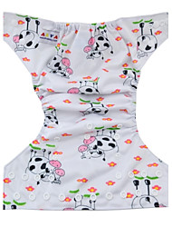 Alva Washable Reusable Adjustable Waterproof Baby Cloth Diaper Nappy with Insert