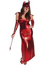 Garment Horn Devil Red Patent Leather Halloween Costumes