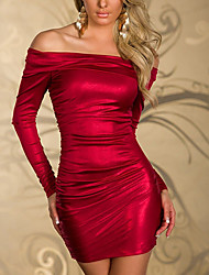 Elegant Lady Shiny Metallic Nightclub Uniform