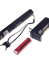 303 Lockable Green Laser Pointer (5MW,532nm,1*18650,Charger,Black)