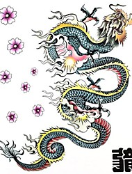 1PC Large Big Temporary Tattoos Colorful Dragon Pattern Wedding Party Tattoos Fake Tattoos for Body Art(31*21.5CM)
