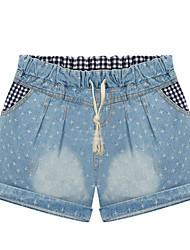 Women's Blue Denim Pant , Casual/Cute/Plus Sizes