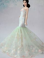 Wedding Dresses For Barbie Doll Light Green Dresses