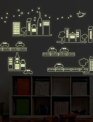 bosquejo extraíble ciudad de la moda de etiqueta de la pared dormitorio / sala de estar / tv fondo