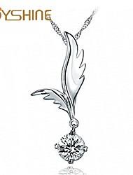 JOYshine women's s925 Silver Angel wings Pendant Silver Necklace