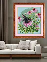 la nueva pintura diamante 5d de flores y mariposas arte rural de punto de cruz bordado costura 31 * 35cm