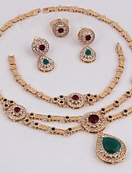 Jewelry-Necklaces / Earrings / Rings / Bracelets & Bangles(Alloy / Zircon / Rhinestone)Party Wedding Gifts