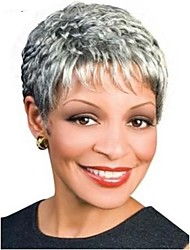 Fashion Short Curly Woman's Synthetic Wigs Hair Freeshipping Gray Wig
