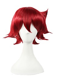 Angelaicos Mens Short Wine Red Halloween Lolita Party Costume Cosplay Wigs for Yowamushi Pedal Naruko Shokichi