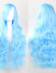 Cosplay Sky Blue Fashion Must-have Girl High Quality Long Curly Hair Wig
