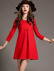 europeu vestido de renda temperamento de voniwomen
