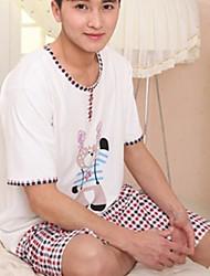 Medium - - Herren - Pyjama ( Baumwolle )