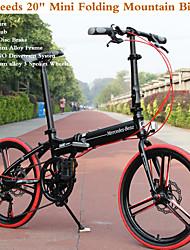 "7 vitesses 20 ""VTT mini pliage Kaijie ™ shimano châssis en alliage d'aluminium transmission 3 roues rayons 3 couleurs"