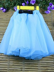 Girl's Solid Skirt,Cotton Summer / Spring / Fall Blue / Pink