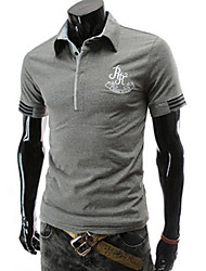 MEN - T-shirt - Informale A camicia - Maniche corte Misto cotone