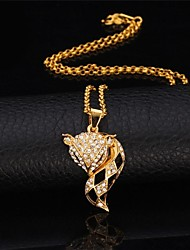 U7® Cute Fox Dangle Earrings Pendant Necklace 18K Real Gold Platinum Plated Rhinestone Earrings Necklace Fashion Jewelry