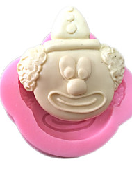 Fondant Clown Shaped Silicone Clay Mold Silicone Cupcake Mold
