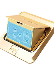 Feidiao on Floor Copper Up-socket (Waterproof, Five-hole, with Bottom Box)