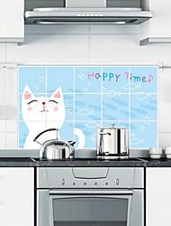кот анти-нефть кухня стикер