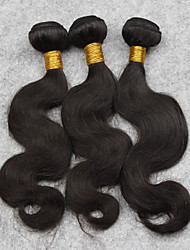 3pcs Brazilian Natural Color Body Wave Human Hair Extensions 14inch,Free Shipping