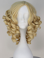 New Movie Cinderella Fairy God Mother Short Curly Blonde Color Moive Cosplay Wig
