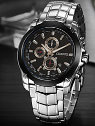 LAGMEEY® High-grade Stainless Steel Strap Three Dashboard Calendar Classic Business Quartz Watch