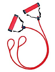Winmax® Plastic And Latex Red Tube Expander with 1lb Steel Bar Inserted Inside The Handles For Unisex