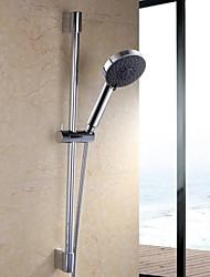 Polished Chrome Five Function Massaging Hand Shower Head with Adjustable Slide Bar, F200+KP501B