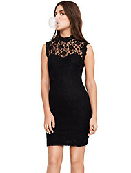 Layi Women's Korean Lace Backless Sleeveless Dress