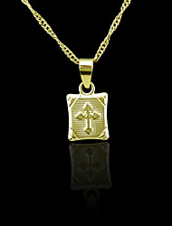18K Real Gold Plated Pendant Necklace