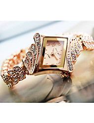 Steel Bracelet Diamond Watch Quartz Watch for Women