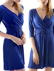 VICONE Women's Low-cut Bodycon OL Dresses