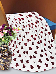 Flannel Comforter Soft Simple Fashion Pattern Stay Warm Thickening Flannel Blanket