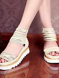 Women's Shoes Wedge Heel Gladiator Sandals Outdoor/Casual Black/Beige