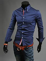 Milan Men's Casual Long Sleeve Casual Shirts