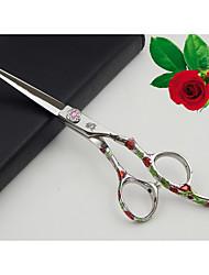 6.0 polegadas tesoura japonês Hitachi 440c aço inoxidável punho rosa profissional barbeiro com navalha presente& clipe& pente