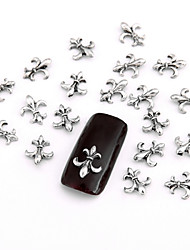 10PCS Grey Nail Art Jewellry Punk Chrome Hearts Aryclic Nail Tips Decorations Nail Art Glitters for Nails