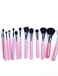 New 15Pcs Pink Professional Makeup Brush Set  Fundation Powder Eyeshadow Eyeliner Makeup Brush Kits