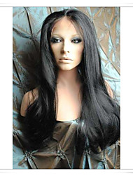 8inch-22inch 100% Indian Remy Human Hair Silky Straight Lace Wigs LWSS004