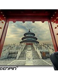 seenpin personalizados tradicionais chinês torre palácio de pedra portão vermelho escadas mouse pads