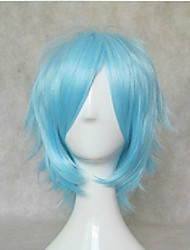 New Stylish Blue Cosplay Wig Synthetic Hair Wigs Short Straight Animated Wigs Party Wigs